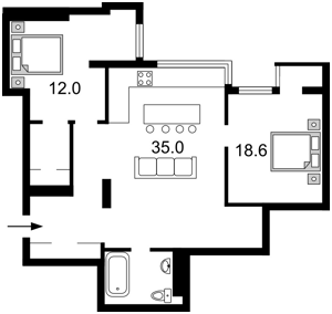Квартира Лобановского просп. (Краснозвездный просп.), 6а, Киев, E-37645 - Фото2