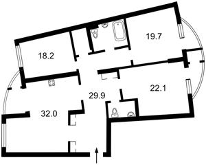 Квартира Днепровская наб., 23, Киев, G-23069 - Фото2