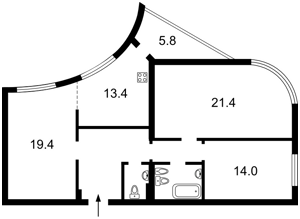 Квартира Героев Сталинграда просп., 8 корпус 7, Киев, Z-350171 - Фото2