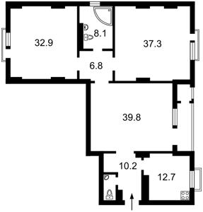 Квартира Коновальца Евгения (Щорса), 44а, Киев, F-38489 - Фото2