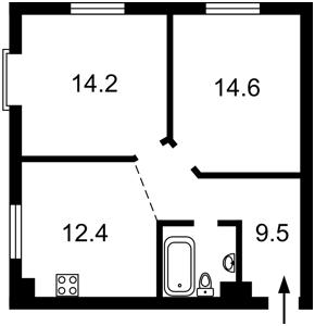 Квартира Луценко Дмитрия, 8а, Киев, Z-1569383 - Фото2