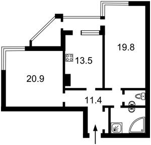 Квартира Коновальца Евгения (Щорса), 32, Киев, Z-358566 - Фото2