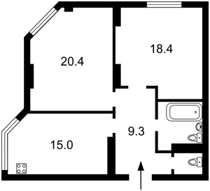 Квартира Мишуги О., 8, Київ, Z-374738 - Фото2