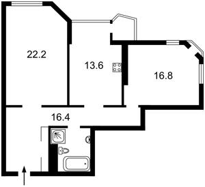 Квартира Кудряшова, 20б, Киев, Z-321577 - Фото2