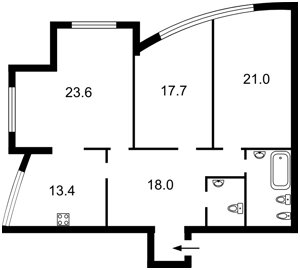 Квартира Дмитриевская, 82, Киев, Z-370064 - Фото2