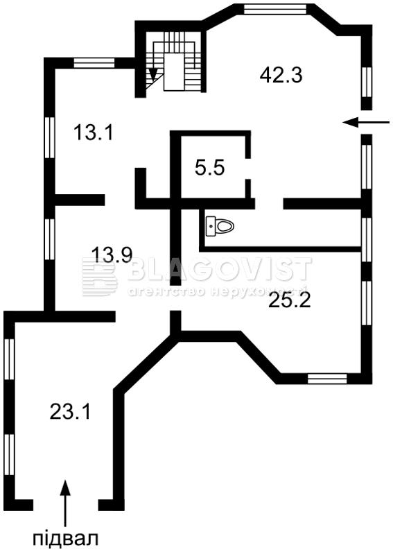 Дом F-40380, Княжичи (Броварской) - Фото 4
