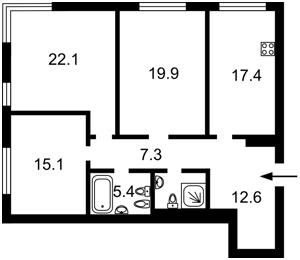 Квартира Зверинецкая, 72 корпус 1, Киев, C-105381 - Фото2