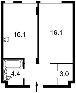 Квартира Регенераторная, 4 корпус 11, Киев, Z-67091 - Фото2