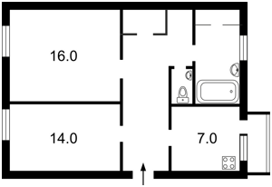 Квартира Мазепи Івана (Січневого Повстання), 4/6, Київ, Z-1452334 - Фото2