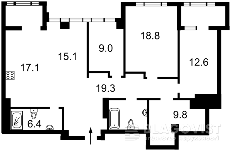 Квартира C-105422, Саперное Поле, 3, Киев - Фото 5