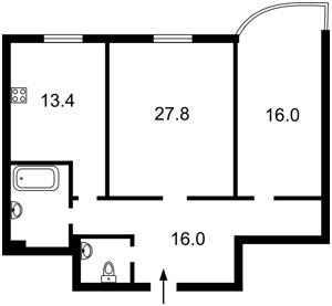 Квартира Леси Украинки бульв., 7а, Киев, Z-35882 - Фото2
