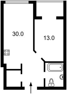 Квартира Деловая (Димитрова), 1-2, Киев, Z-385431 - Фото2