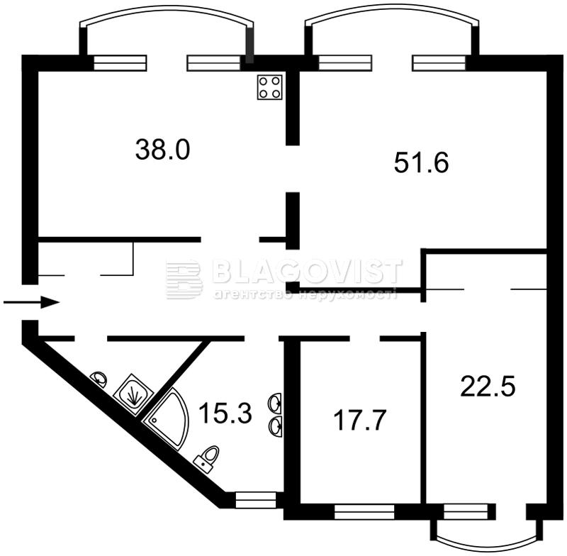 Квартира Z-370778, Антоновича (Горького), 140, Киев - Фото 8
