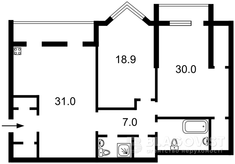 Квартира F-40437, Коновальца Евгения (Щорса), 32г, Киев - Фото 5