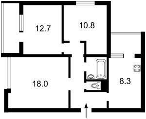 Квартира Антоновича (Горького), 103а, Київ, Z-1516 - Фото2