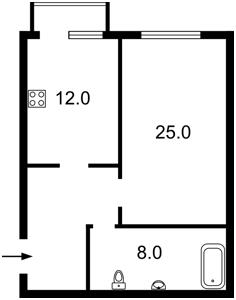 Квартира Дмитриевская, 48г, Киев, Z-385705 - Фото 2