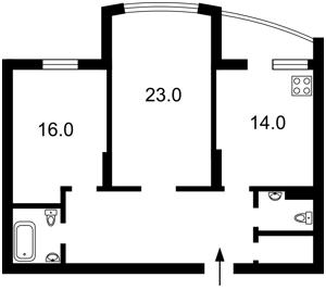 Квартира Максимовича Михайла (Трутенка Онуфрія), 3д, Київ, Z-331382 - Фото2