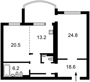 Квартира Героев Сталинграда просп., 6, Киев, Z-400607 - Фото2