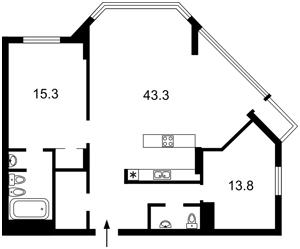 Квартира Болсуновская (Струтинского Сергея), 2, Киев, C-105582 - Фото2