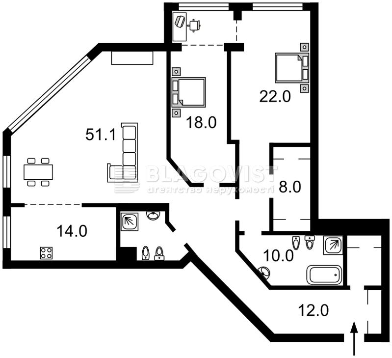 Квартира H-42333, Большая Васильковская, 72, Киев - Фото 4