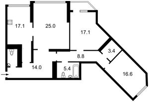 Квартира Срібнокільська, 1, Київ, M-11279 - Фото2