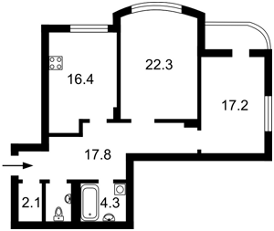 Квартира Ніжинська, 5, Київ, D-34389 - Фото2