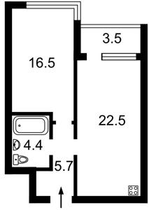 Квартира Заречная, 3а, Киев, Z-403267 - Фото2