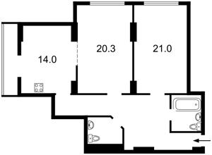 Квартира Днепровская наб., 1а, Киев, Z-388083 - Фото2
