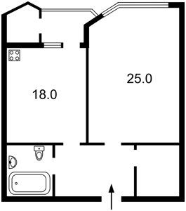Квартира Кудряшова, 16, Киев, Z-409043 - Фото 2