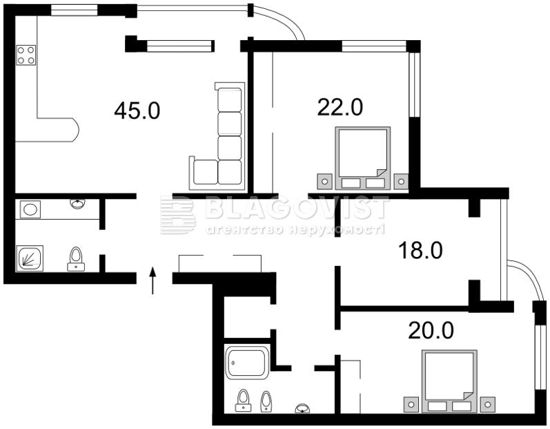 Квартира H-42829, Коновальця Євгена (Щорса), 32в, Київ - Фото 4