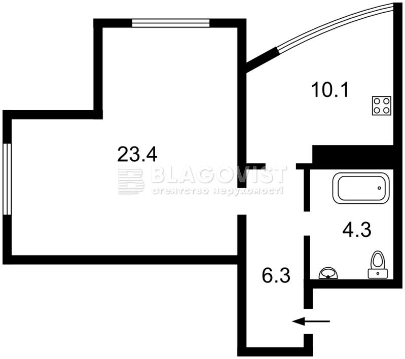 Квартира R-21375, Победы просп., 26, Киев - Фото 5