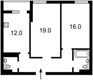 Квартира Ахматовой, 28, Киев, Z-403789 - Фото2