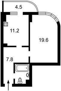 Квартира Драгомирова Михаила, 2а, Киев, Z-411483 - Фото2