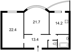 Квартира Подгорная, 7/36, Киев, R-21481 - Фото2