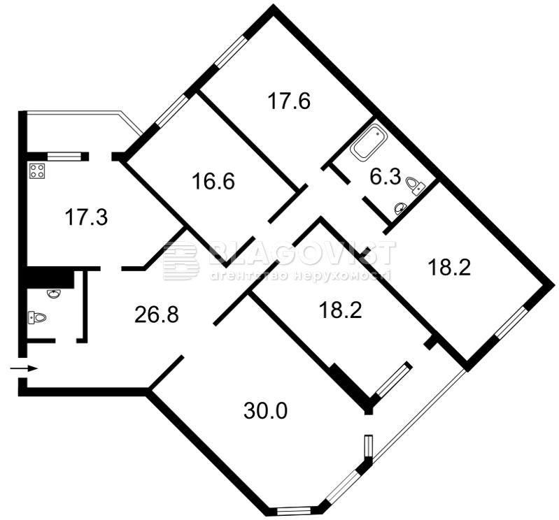 Квартира H-42899, Микільсько-Слобідська, 4г, Київ - Фото 4