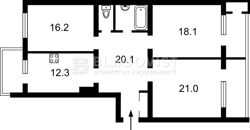 Квартира Z-374041, Гончара Олеся, 62, Киев - Фото 3