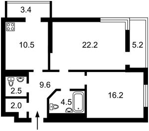 Квартира Тютюнника Василя (Барбюса Анрі), 51/1а, Київ, Z-415350 - Фото2