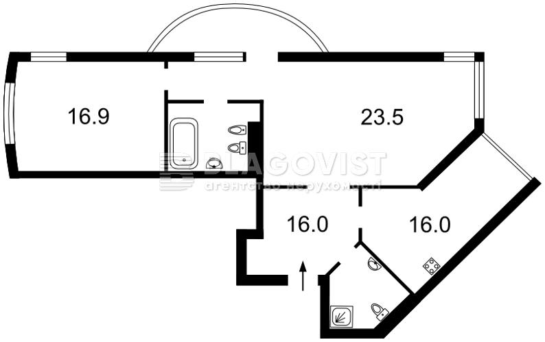Квартира R-21438, Вышгородская, 45а, Киев - Фото 6