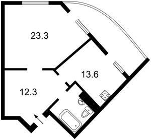 Квартира Вишгородська, 45б, Київ, Z-481086 - Фото2