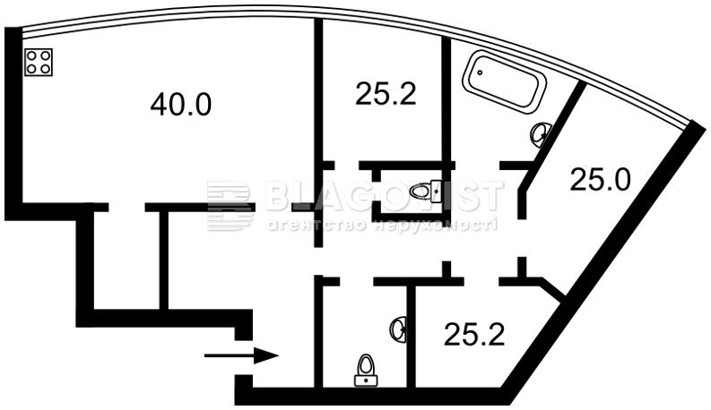 Квартира C-105693, Шевченко Тараса бульв., 30, Киев - Фото 4
