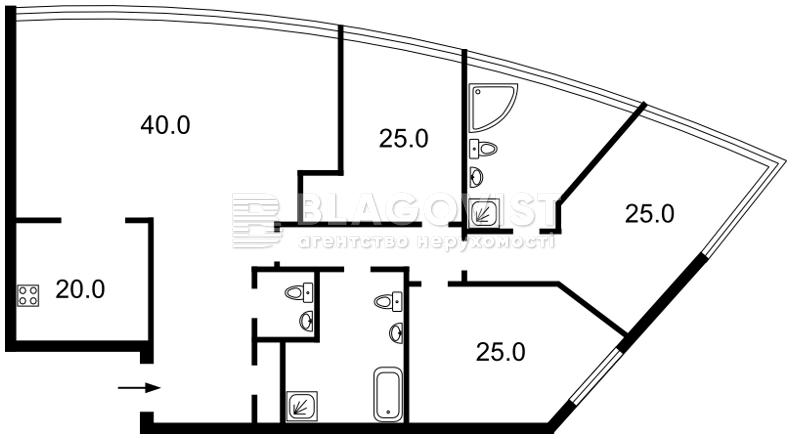 Квартира C-105702, Шевченко Тараса бульв., 30, Киев - Фото 4