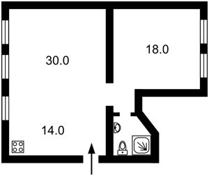 Квартира Толстого Льва, 25, Киев, Z-396584 - Фото 2