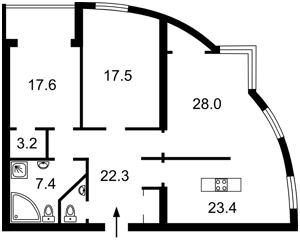 Квартира Голосеевский проспект (40-летия Октября просп.), 68, Киев, Z-1016512 - Фото2