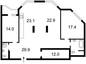 Квартира Коперника, 12д, Киев, Z-400575 - Фото 2