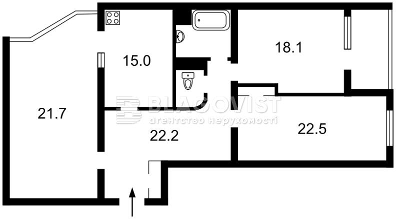 Квартира C-105770, Прилужная, 4/15, Киев - Фото 6
