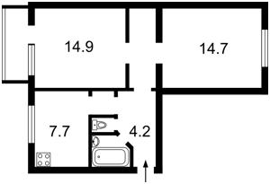 Квартира Бусловская, 20, Киев, C-105721 - Фото 2