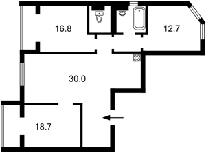 Квартира Комбинатная, 25а, Киев, Z-422098 - Фото2