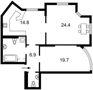 Квартира Героїв Сталінграду просп., 2г корпус 1, Київ, Z-386280 - Фото2