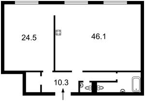 Квартира Сечевых Стрельцов (Артема), 52а, Киев, Z-241307 - Фото 2