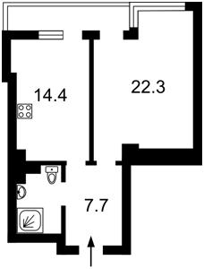 Квартира Белорусская, 36а, Киев, F-39744 - Фото 2